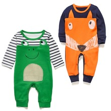 spring summer newborn baby boy clothes baby frog rompers for girl long sleeve baby pajamas jumpsuit toddler overalls unisex body