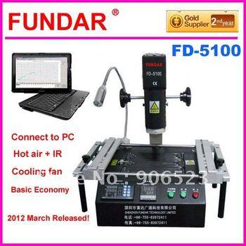 FD-5100 hot air + infrared repair system Machine for bga IC reballing soldering desoldering free shipping