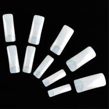 500 teile/los Natürliche halbe Abdeckung Acryl falsche Nagel-Kunst-Spitzen EQ0293(China (Mainland))