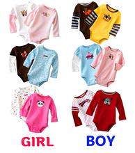 5 Pieces/lot Newborn Baby Clothing Cotton Baby Unisex Next Vestidos Infantis Body Long Sleeve Super Soft Baby Bodysuit(China (Mainland))
