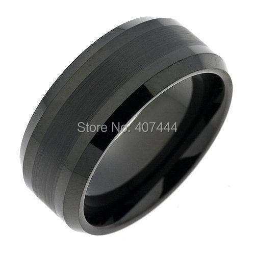 10PCS/LOT Wholesales Free Shipping USA UK Canada Russia Brazil Supernova Sale 8MM Mens Black Beveled Matte Top Tungsten Rings<br><br>Aliexpress