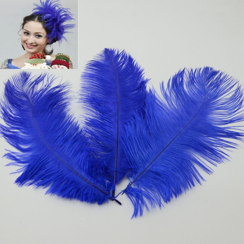 20pcs Ostrich Feathers Trim Sewing Trimming Costume Millinery Craft 15-20CM MT209(China (Mainland))