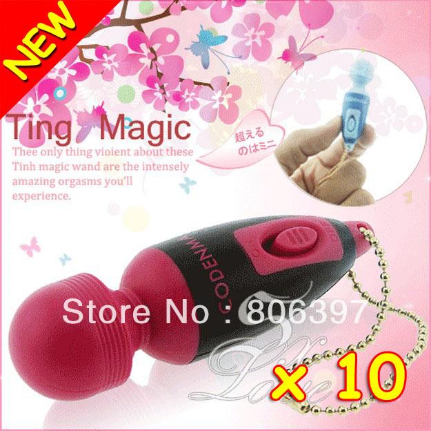 New 10 Vibrators Waterproof Sex Toys Mini Vibration Sexy Products AV Magic Wand Massager Hot Selling Adult Sex Toy(China (Mainland))