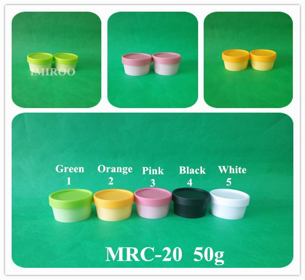 60set/lot Colorful 50g Empty Cream Cosmetic Container, Mask Container, Cream Jar<br>