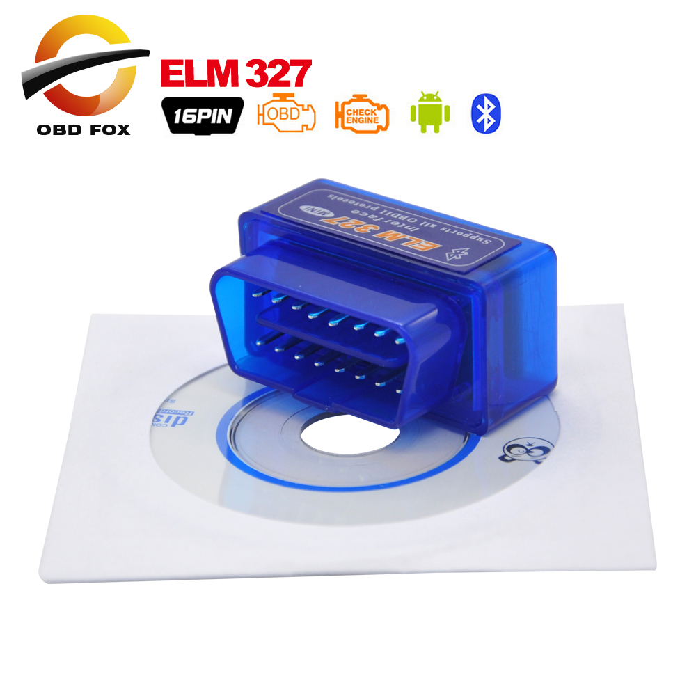 10pcs/lot OBD/OBDII scanner super mini ELM 327 car diagnostic interface tool ELM327 bluetooth supports all OBD-II protocols(China (Mainland))
