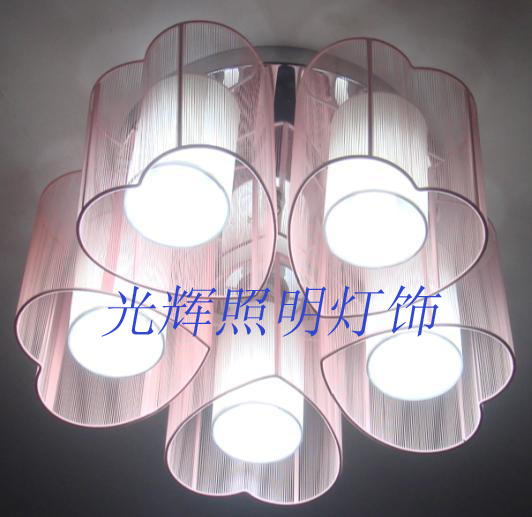 new arrival +wholsale price Modern brief heart wiredrawing ceiling light aisle lights 1 3 5 free shipping(China (Mainland))