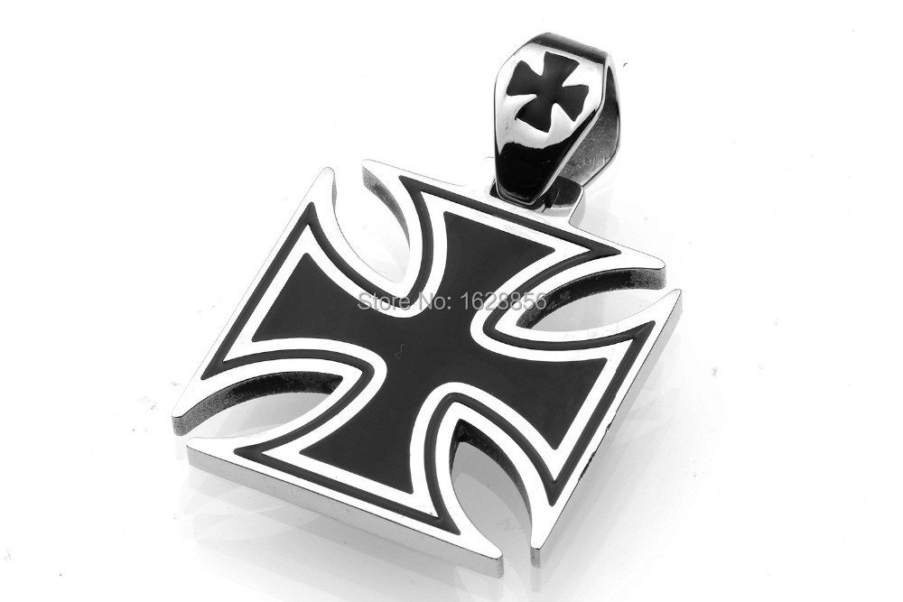 2015 Hot Men's Cool Stainless Steel Medal Iron Criss-cross Hollow Cross Pendant Jewelry Rock Punk Biker style Classic - Fine jewelry Chinese shop store
