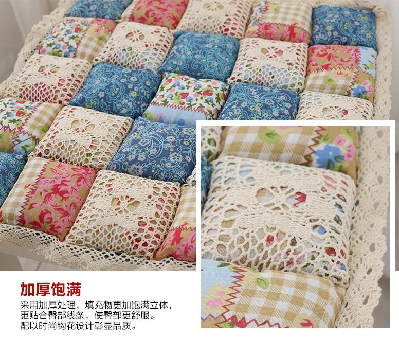 Vintage Rustic Cushion Bread Pad Tatami Cushion Cotton
