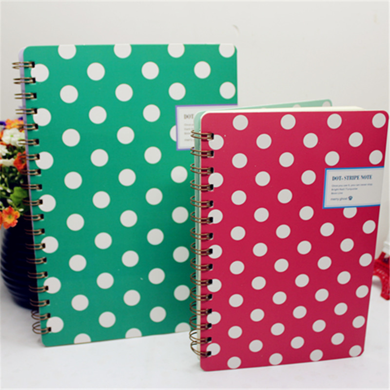 Korean national level office paper Creative stationery 16k dots coil diary notebook manufacturers to build 120(China (Mainland))