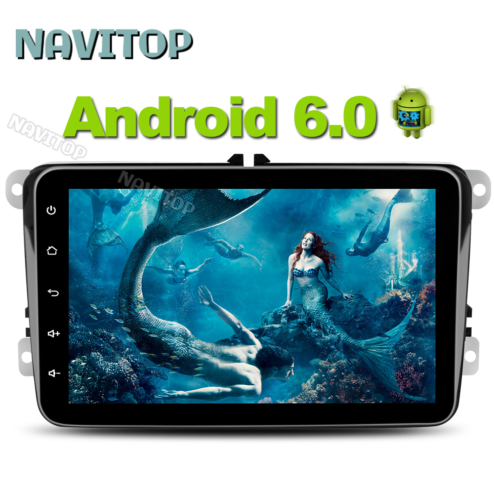 Navitop 1024*600 android 6.0 car dvd player gps 2 din in dash for volkswagen golf 4 5 6 polo passat car dvd gps navigation(China (Mainland))