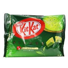 Japanese Snacks, ,Chocolate kit Kat green tea,140grams 1  bag ,chocolate biscuits, Matcha flavor, Snack ,Food(China (Mainland))