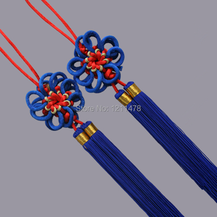 Delicate sunflower chinese knot knitting decoration accessories for home or car hangings(China (Mainland))