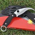9Cr18Mov Folding Knife Blade Hunting tactical Knives G10 Handle Survival Cmamping Knife Sheath