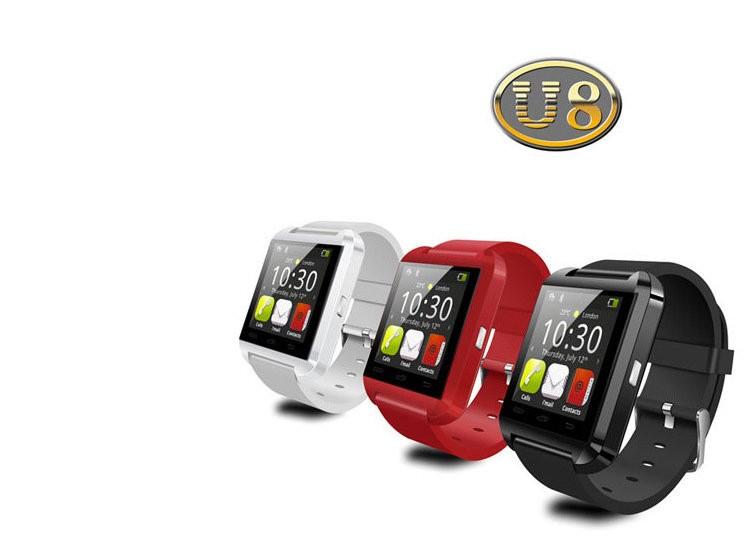 DHL 50pcs U8 Bluetooth Smart Wrist Watch U Watches Altimeter Smartwatch Wristwatch For iPhone Samsung Sony Cell Phones Wholesale(China (Mainland))