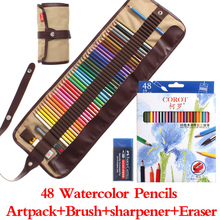 COROT 48Colors Safe Non-toxic Indonesia Lead Water Soluble Colored Pencil Watercolor Pencil Set For Writing Drawing Art Supplies(China (Mainland))