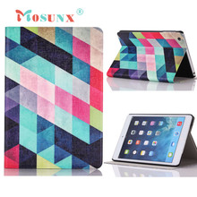 Hot selling Mosunx Gifts Colored Squares Flip Stand Leather Case Cover For iPad Mini 1 2 3 Retina 1PC(China (Mainland))