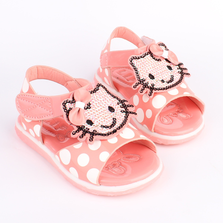 Princess hello kitty shoes girls sandals Soft Bottom summer style shoes for girls sapato infantil chaussure fille A003(China (Mainland))