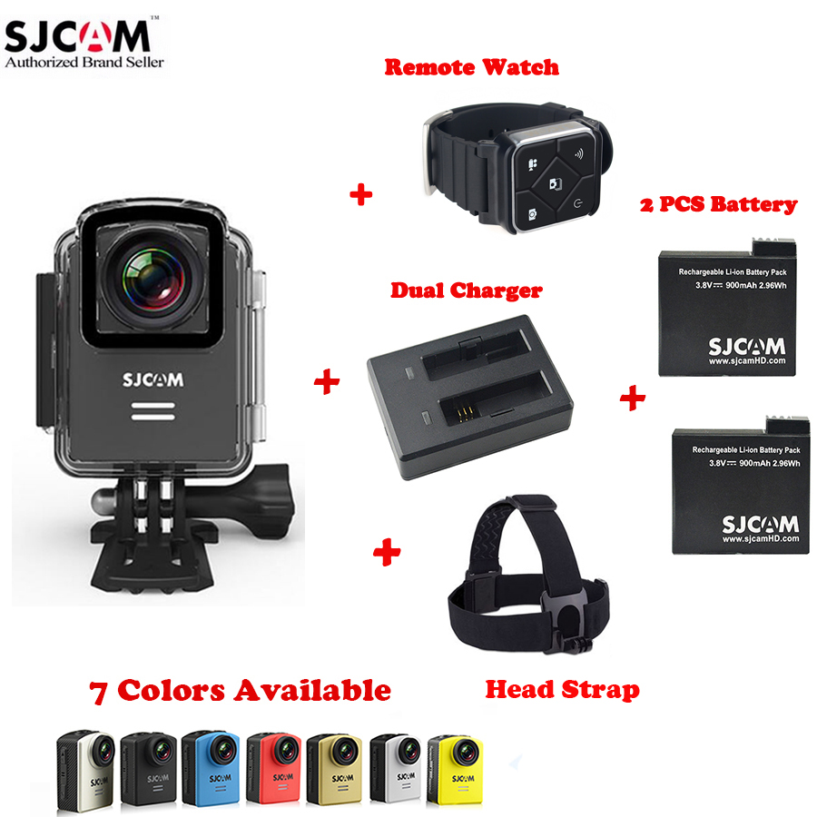 100% Original SJCAM M20 Wifi 30M Waterproof Sports Action Camera Sj Cam DVR+2 Extra Battery+Dual Charger+Remote Watch+Head Strap(China (Mainland))