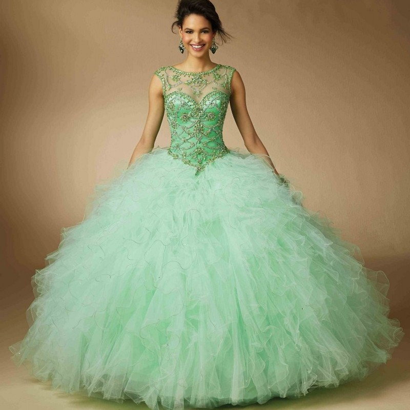 Birthday Party Mint Green Lace Dress Image Inspiration of Cake