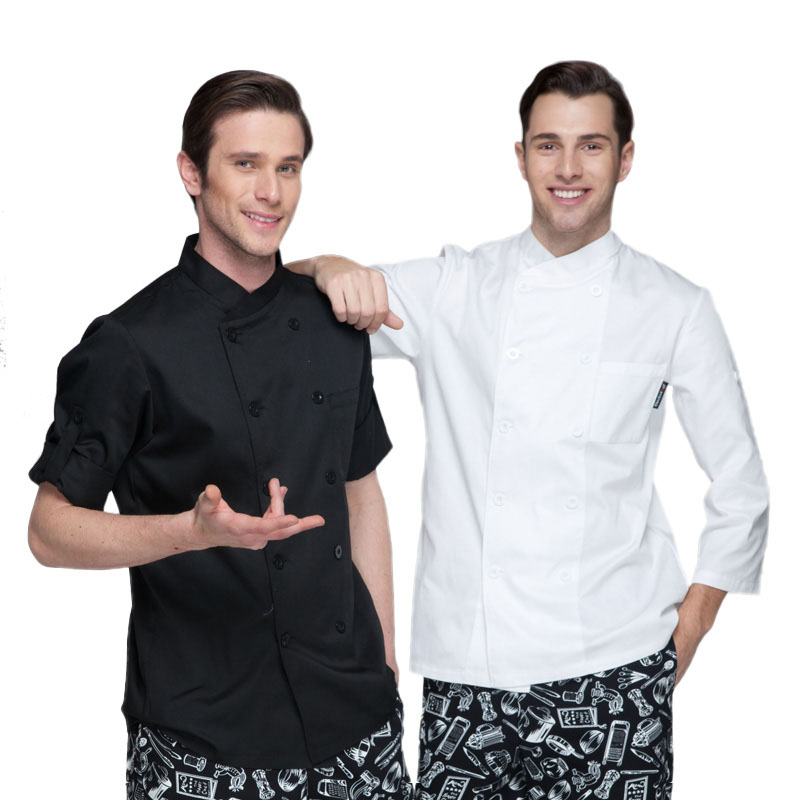 New Chef Aprons spring and summer Western hotel kitchen clothes for men and women long-sleeved chef uniforms(China (Mainland))