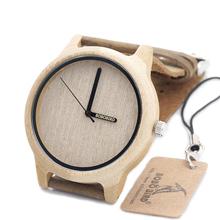 2016 De Madeira De Bambu Bobobird Japonês Miyota 2035 Movimento Quartz Analog Watch Com Ponteiro Logo na Caixa de Presente