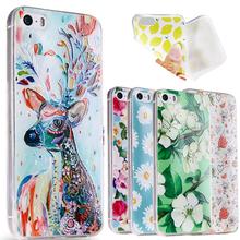3D тпу мягкий чехол для Iphone 5 мобильный телефон чехол крышка, 22 стилей задняя крышка чехол кожи для Iphone 5S защитной оболочки