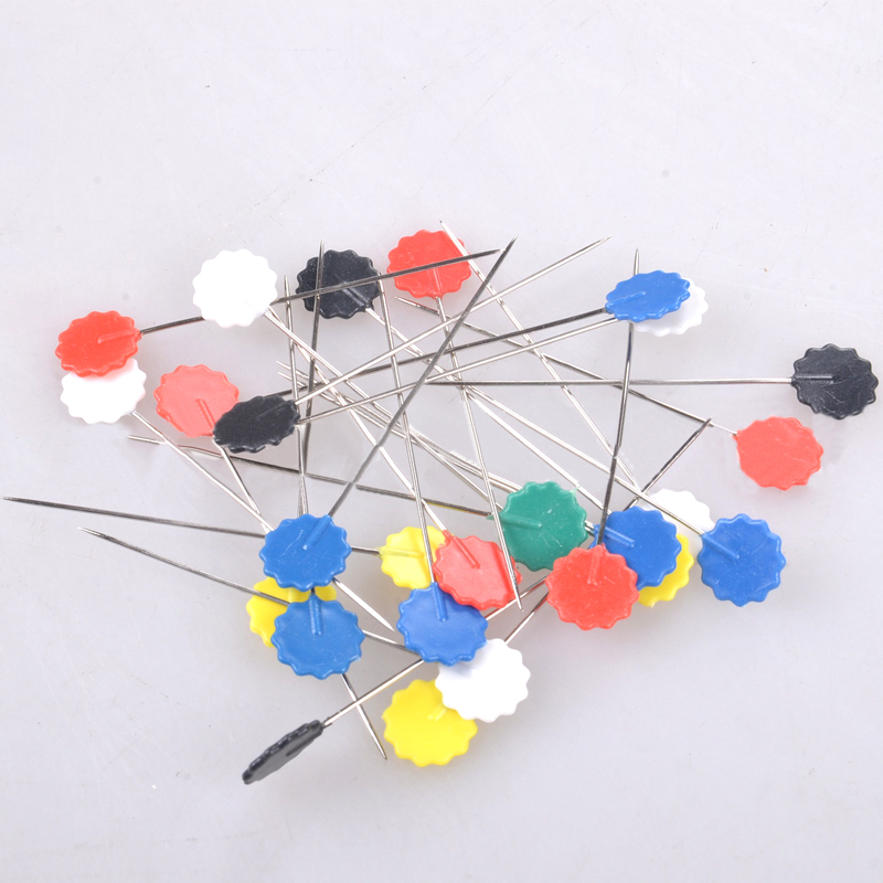 100pcs Exquisite wonderful packaged Sewing accessories patchwork pins flower pin sewing pin Flower Head Pins<br><br>Aliexpress