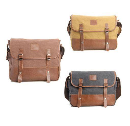 Hot!Hot! Canvas Bag Satchel Cross Body Retro Messenger Bookbag Shoulder School Bag 3-Color Free shipping(China (Mainland))