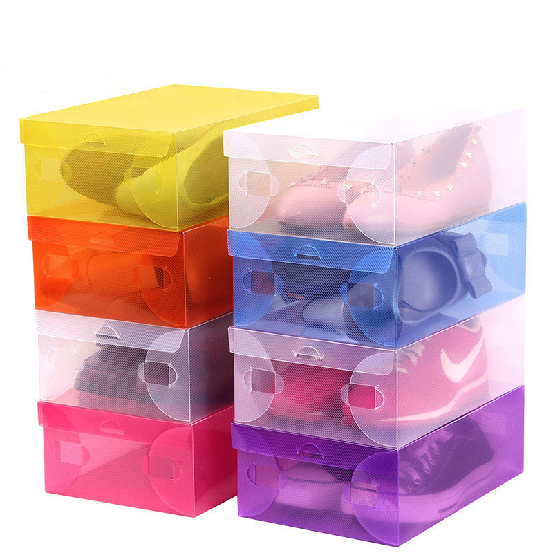 1pcs Special Offer thick Clear Plastic Shoe Boxes drawer storage box boots Storage Organizer Box Container Boxes(China (Mainland))