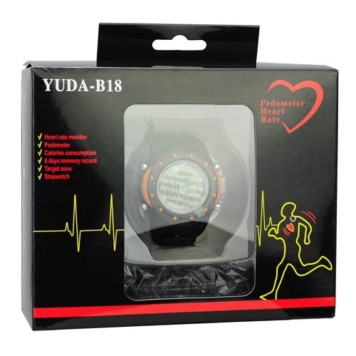 Здесь можно купить  100% High Quality 2015 New Pedometer Heart Rate Monitor Watches Sport Watch with Multi-function Silicon Watchband Free Shipping  Ювелирные изделия и часы