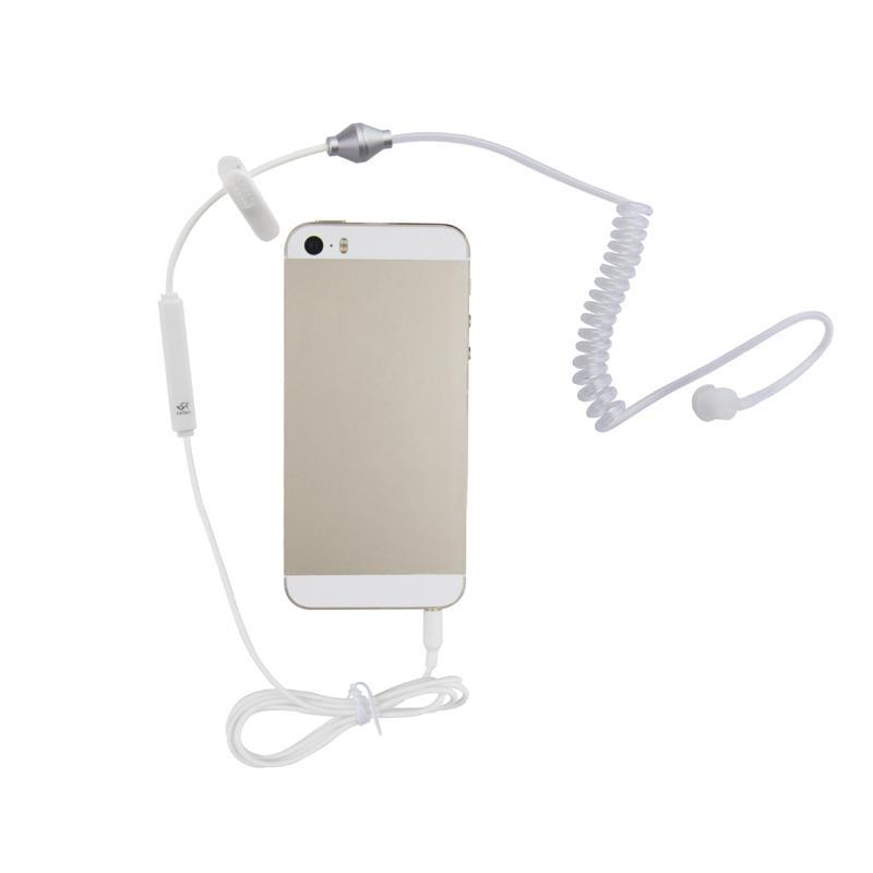 Air Tube Anti-radiation Mobile Phone Handset Earphone Headphone Ear Hook with Microphone(China (Mainland))
