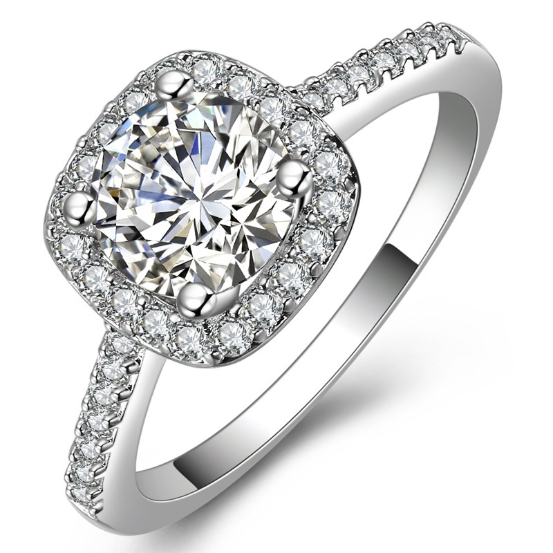 Affordable Wedding Rings Online 76 Marvelous Cubic zirconia halo engagement