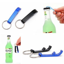 1 Key Chain Beer Bottle Opener Small Beverage Ring Claw Bar Pocket Tool Random Colors(China (Mainland))
