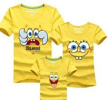 11 Colors Spongebob T shirts Boys Clothing Summer Style Family Matching Outfits Father Mother Daughter Son Shirts Family Look