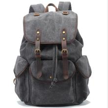 stacy bag 072616 hot sale high quality man vintage style canvas travel backpack student school bag(China (Mainland))