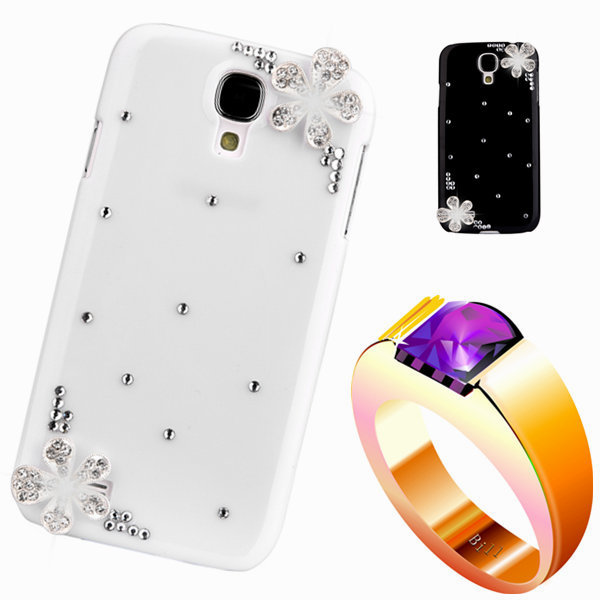diamond rhinestone case For samsng Alpha Floral mobile Phones & Accessorie luxury bling plastic back cover For galaxy G850 G850F(China (Mainland))