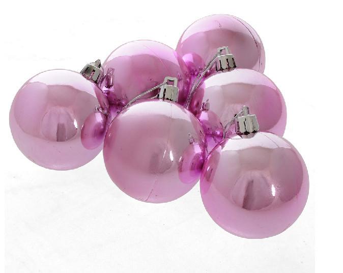 Hot Sale - 30pcs/lot 6CM SIZE diameter Lattice Christmas balls of pink dazzling electroplating wholesale lattice models(China (Mainland))