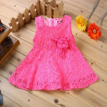 Hot!1 year birthday dress for babies princess lace 100% cotton vestido infant wedding party newborn baby girl dress 2015 summer(China (Mainland))