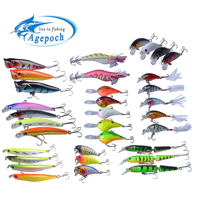 Agepoch Fishing Fly Tackle Feeder Carp Peche Crankbait Popper Fishhook All Fish Supplies Lead Lure Set For Food Soft Jig Spinner(China (Mainland))