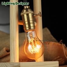 Buy A60 Retro lamp e27 vintage edison filament light 110v 220v incandescent bulb A19 lamp home decor Spiral design golden color for $3.99 in AliExpress store