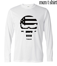 2017 autumn hipster streetwear t-shirt camisetas men Sniper Chris Kyle Punisher Skull casual long sleeve hip-hop brand clothing(China (Mainland))