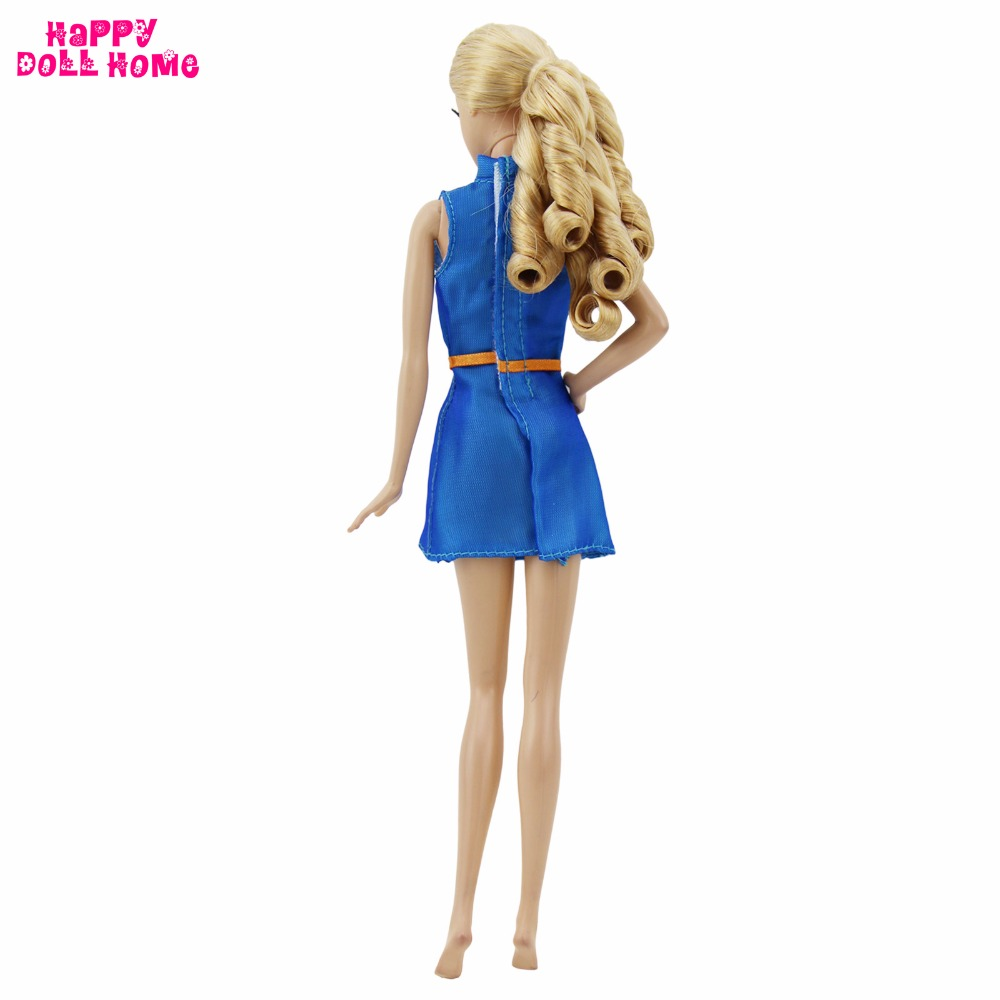 Fashionable Trend Costume OL Workplace Girl Fashion Wedding ceremony Social gathering Handmade Blue Shade Garments For Barbie Doll Faux Play Equipment