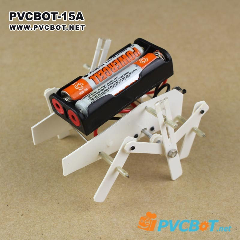 PVCBOT_15 number A DIY version of original model teaching material production suite Crawling insect six-legged robot(China (Mainland))