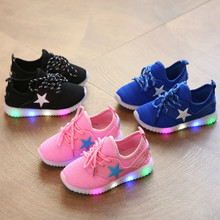 Children Summer Glowing Sneakers Luminous Children's LED Yeezy Shoes for Girls Boys Sports Casual Sneaker Infantil Shoes 325(China (Mainland))