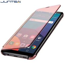 Buy JUNTSAI New Clear View Mirror Smart Flip phone Case LG G4 G5 G6 V10 Cover Case Xiaomi Redmi Note 4 / 4X PU Leather Coque for $4.89 in AliExpress store