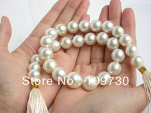 Jewelry 00773 16MM WHITE SOUTH SEA PEARLS NECKLACE 14K SOLID GOLD(China (Mainland))