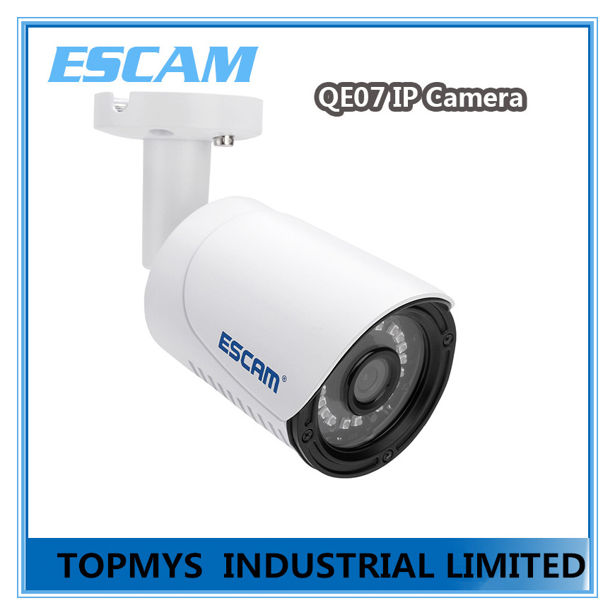 Free Shipping ESCAM Qe07 3.6mm Lens Mini Wireless IP Camera WIFI ONVIF2.0 Audio Camera Support Alarm Motion Detection(China (Mainland))