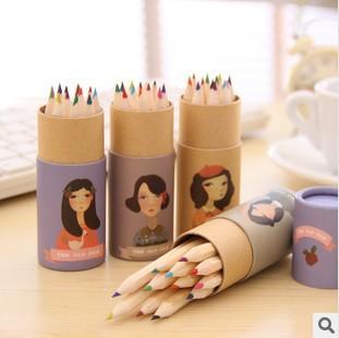 Гаджет  Korean Style Miss COCO Design Colored Pencils Kawaii Stationery for Art Drawing Kids Graffiti Office School Supplies None Офисные и Школьные принадлежности