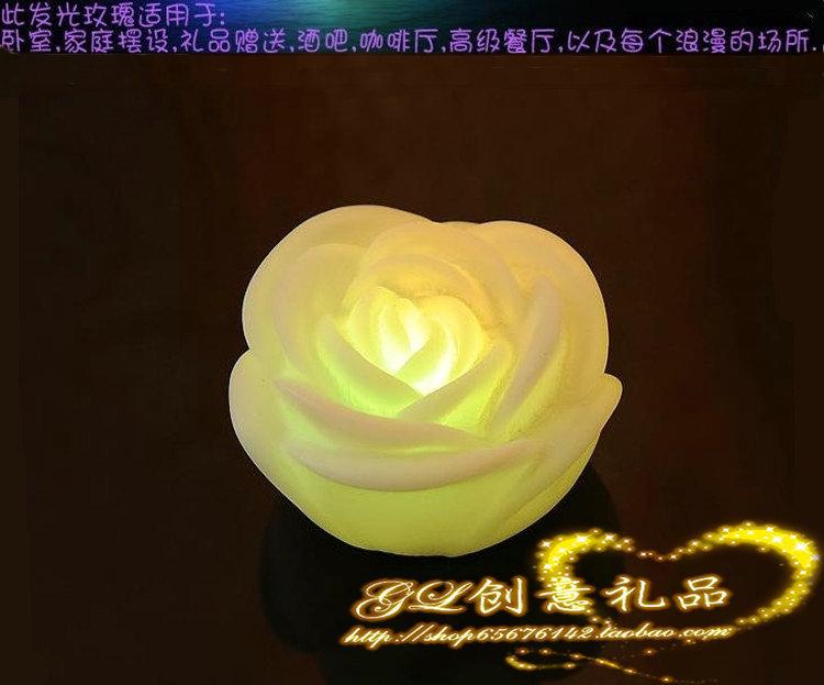 Valentine's Day gift ideas romantic rose lamp Colorful Night Light(China (Mainland))