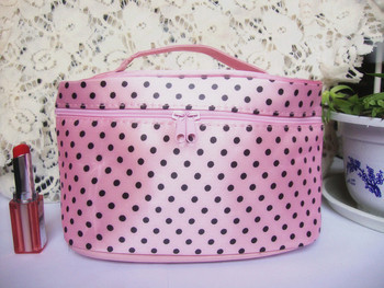 Hot Women Fashion Fabric Cosmetic Travel Bags Organizer Cute Makeup Storage Box Case for the Cosmetics Free shipping 10010